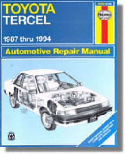 car repair manuals online free 1998 toyota tercel instrument cluster service manual remove 1994 toyota tercel water pump repair manual 1994 toyota tercel engine