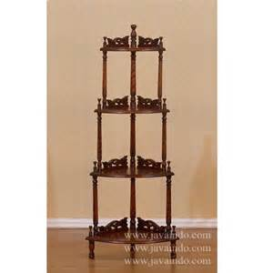 Corner rack 4 shelves rack furniture mahogany furniture