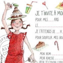 connu carte invitation anniversaire fille 8 ans ap03
