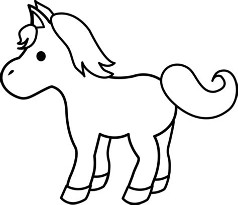 Pony Clipart Black And White pony clip black and white clipart panda free