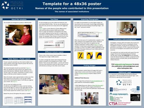 powerpoint poster templates 48x36 presentation poster template presentation poster