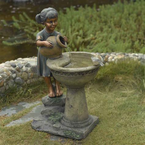 jeco versando bird bath outdoor water fountain reviews
