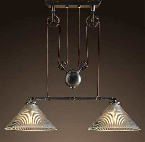 industrial pulley pendant light the industrial pulley pendant
