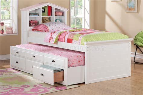kids bedroom pc set  poundex  white wtrundle bed