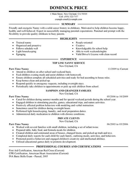 babysitting resume templates 28 images resume sle