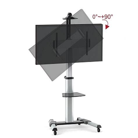 supporto tv pavimento supporto a pavimento con una mensola trolley tv lcd led