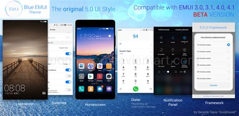 emui themes hwt blue emui theme 5 0 ui by duophased on deviantart