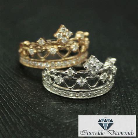 encrusted gold crown ring iturraldediamonds