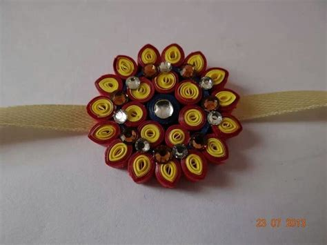 How To Make A Handmade Rakhi - 17 best images about paper quilling rakhis on
