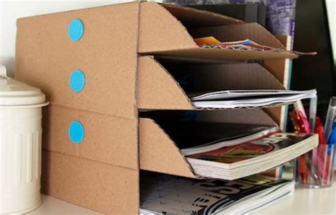 How To Make A Desk Out Of Paper - diy desk tidies for home offices homework zones