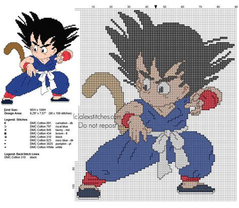 dibujos de goku para punto de cruz patr 243 n punto de cruz gratis goku super saiyan god dibujos de goku para punto de cruz cross stitch pattern goku kid from dragon ball 1 anime