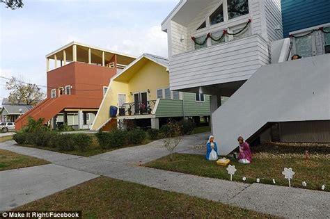 sustainable homes for katrina victims from brad pitt brad pitt s hurricane katrina charity under fire as homes