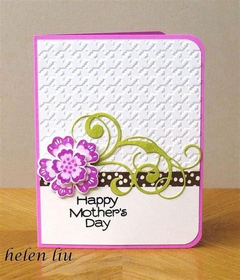 Simple Handmade Mothers Day Cards - handmade card mother s day card by helenshiau clean