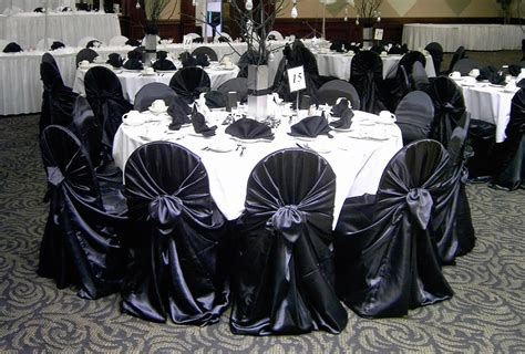 Black Universal Chair Covers by Universal Satin Chair Cover Black