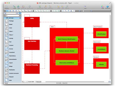 package diagram uml uml package diagram design of the diagrams business