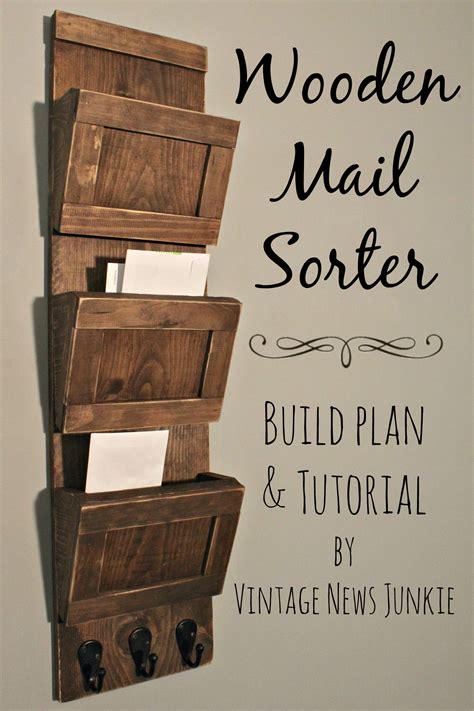 organized diy wood mail sorter plans  tutorial