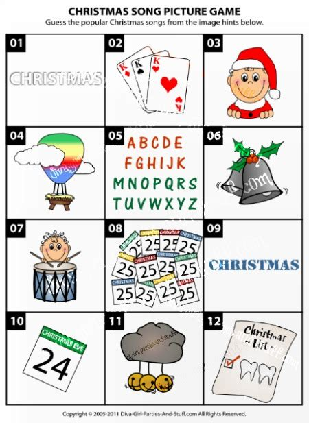 guessing games for christmas song picture