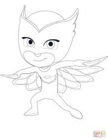 owlette from pj masks coloring page free printable
