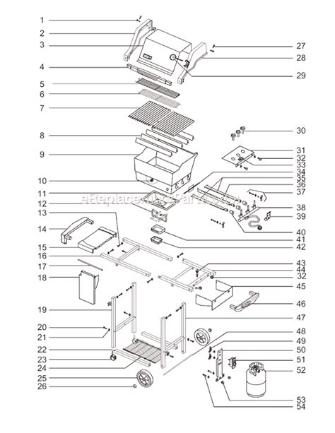 weber genesis silver grill parts weber 2251001 parts list and diagram 00 01