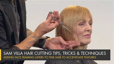 sam villa 101 long layer haircut turtiol adding face framing layers to fine hair to accentuate