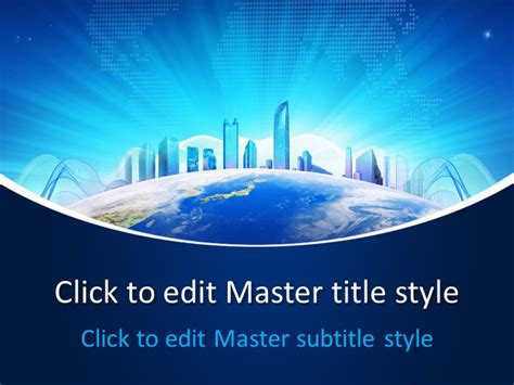 free business world powerpoint template free powerpoint