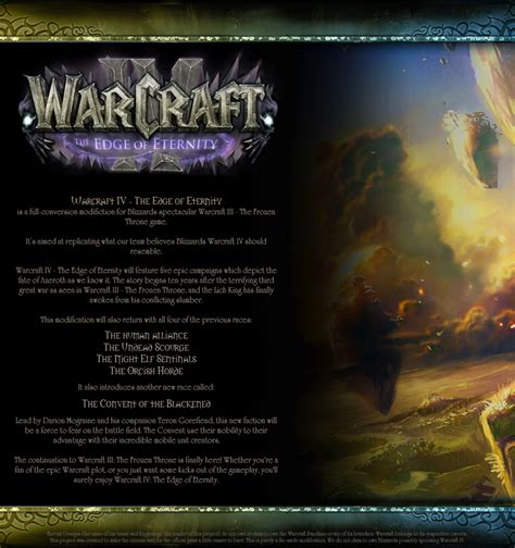 edge of eternity the warcraft iii the edge of eternity mod mod db