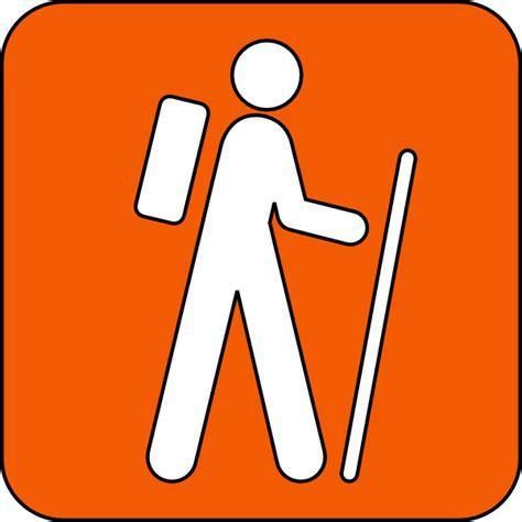 trail clipart hiking trail orange clip at clker vector clip