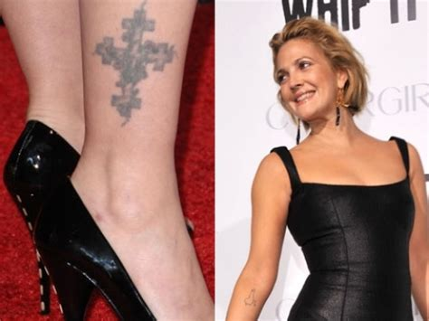 drew barrymore tattoos chic tattoos 2010