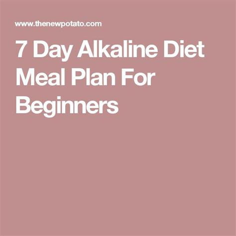 Gerd Detox Diet by 7 Day Alkaline Diet Meal Plan For Beginners Detox And