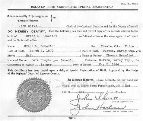 Pa Birth Records Duryea Pennsylvania Historical Homepage Pre1900s Contents