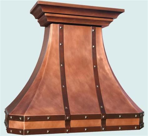 Handcrafted Metals - copper handcrafted metal farmhouse range hoods