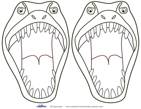 dinosaur mask template free dinosaur mask printable design templates