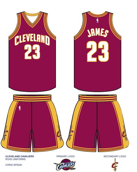 jersey design cavs uni watch cleveland cavaliers redesign results