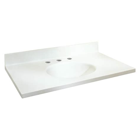solid surface bathroom vanity tops shop transolid chelsea white solid surface integral single
