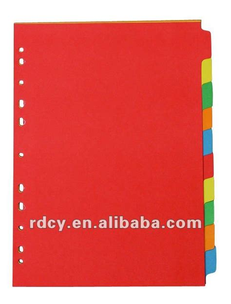 How To Make Paper Dividers - newest design paper index dividers paper tabs buy paper