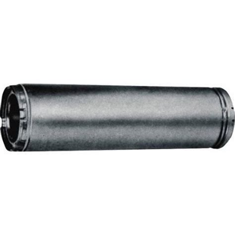 home pipe l duravent durablack 6 in x 48 in single wall chimney