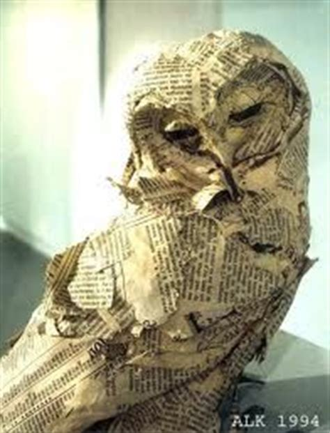 How To Make A Paper Mache Owl - paper mache owl lise koehler ideas for paper mache