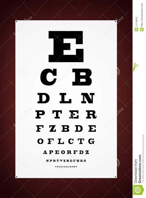 test lettere eye test letter poster royalty free stock image image