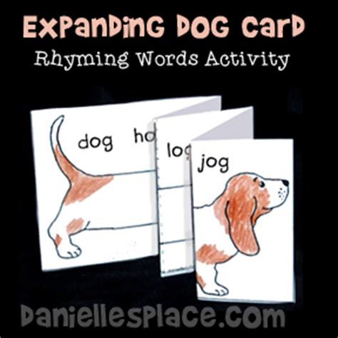 what rhymes with puppy crafts and learning activities for