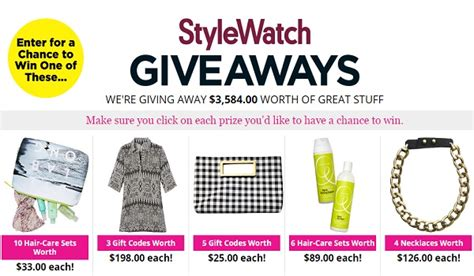 People Stylewatch Sweepstakes - people magazine stylewatch giveaways sweepstakesbible