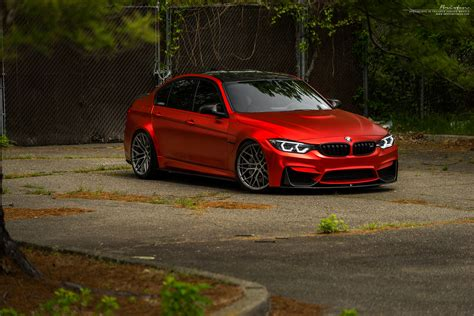 matte red bmw matte red bmw m3 with brixton forged wheels