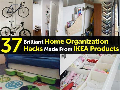 House Organisation Hacks | 37 brilliant home organization hacks made from ikea products