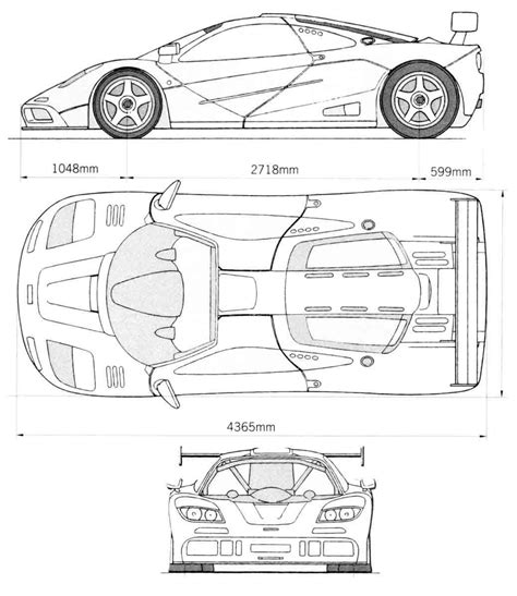 mclaren f1 drawing mclaren f1 lm 1989 blueprint download free blueprint for