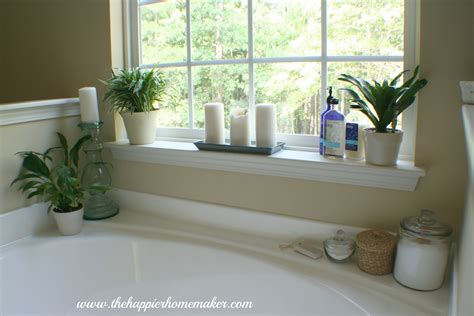 Decorating Around A Bathtub The Happier Homemaker Garden Tub Decor Ideas