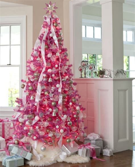 christmas tree decorations pink remodelaholic decorating