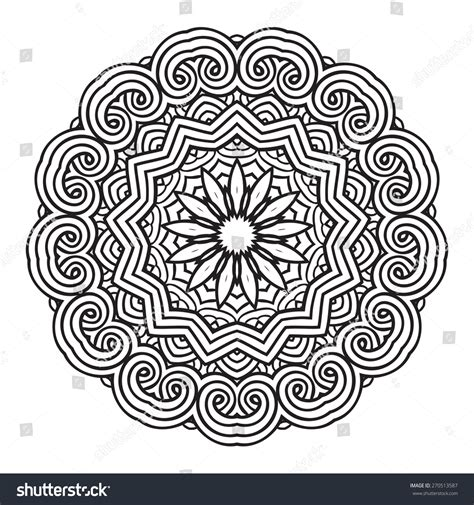 mandala coloring pages vector ethnic fractal mandala vector circle meditation