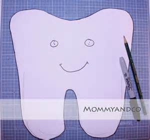 Tooth Pillow Template by Mommyandco Tooth Pillow Tutorial