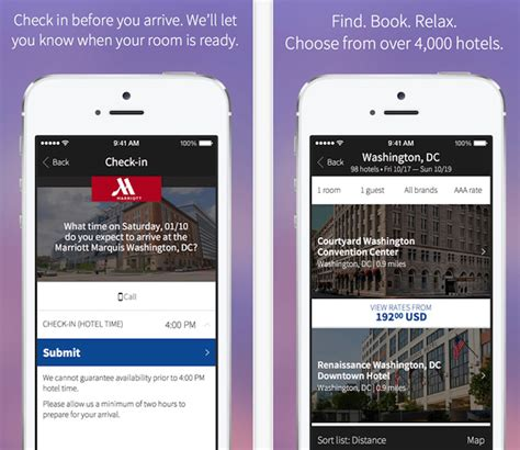 marriott mobile app marriott s new app expands mobile check ins skift