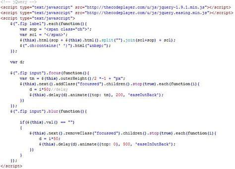 untuk membuat query pada objects dipilih membuat effect pada tilan input form menggunakan jquery