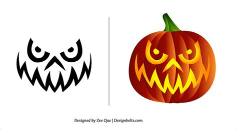 scary pumpkin carving templates 10 free scary pumpkin carving patterns stencils